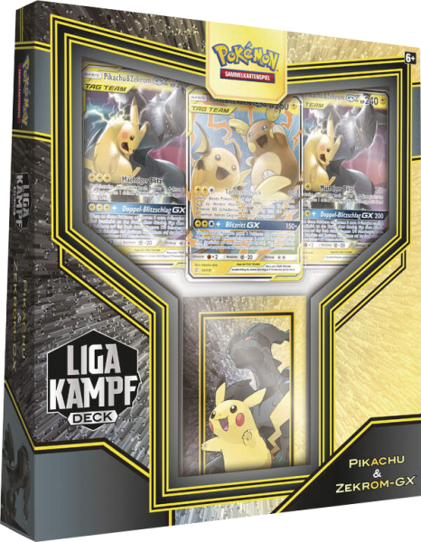 Pokemon Liga-Kampf Deck Pikachu & Zekrom-GX deutsch