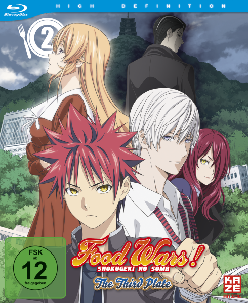 Food Wars! Shokugeki no Soma The Third Plate Vol. 02 Blu-ray