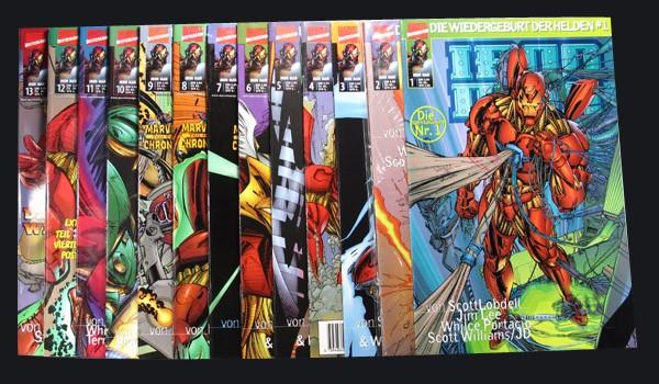 Iron Man - die Wiedergeburt der Helden # 1-13 Comic Set