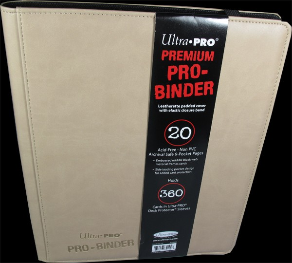 Ultra Pro - Premium Pro Binder 9-Pocket Portfolio - white