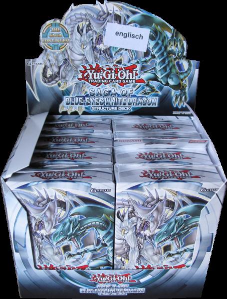 Yu-Gi-Oh! Saga of Blue-Eyes White Dragon Structer Deck Display englisch