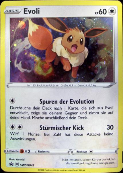 Pokemon SWSH042 Evoli Holo Promo deutsch
