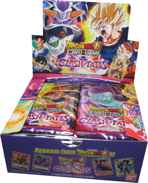 Dragonball Super Clash of Fates Booster Display englisch