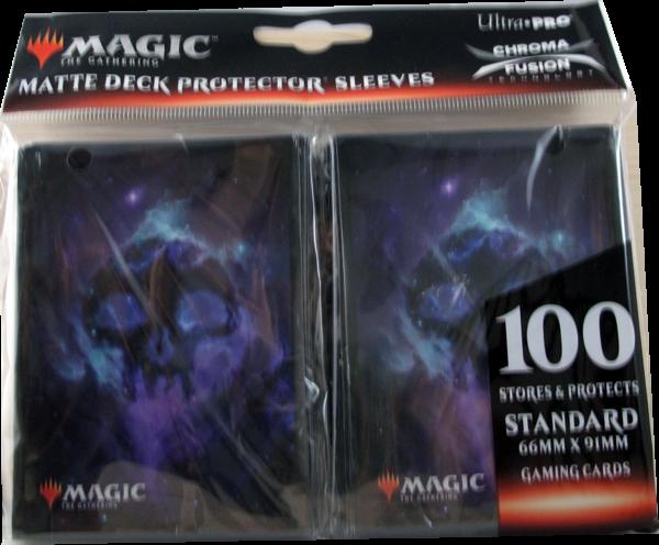 Ultra Pro - Standard Matte Deck Protector Sleeves - Magic Mana Symbol schwarz - 100 Hüllen