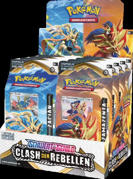 Pokemon Schwert & Schild Clash der Rebellen Themendeck Display