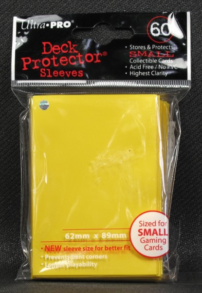 Ultra Pro - Small - Yellow - 60 Hüllen - Deck Protector Sleeves