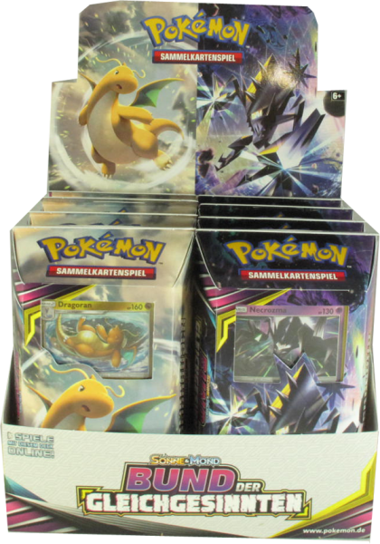 Pokemon Sonne & Mond Bund der Gleichgesinnten Themendeck Display