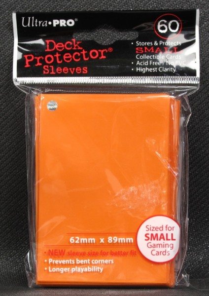 Ultra Pro - Small - Orange - 60 Hüllen - Deck Protector Sleeves