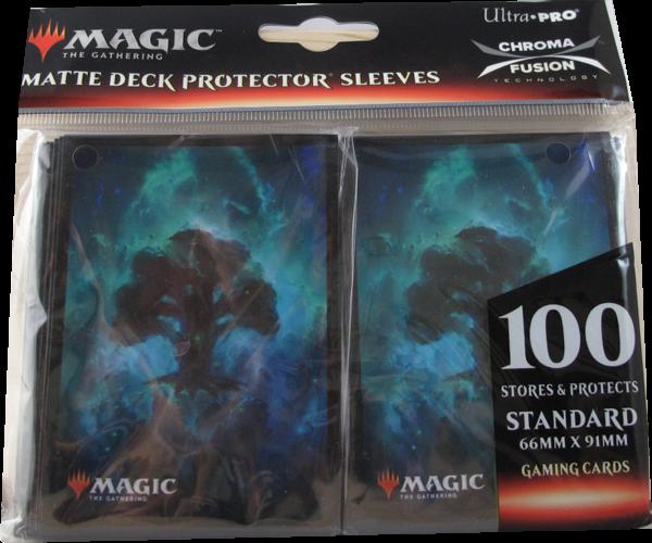 Ultra Pro - Standard Matte Deck Protector Sleeves - Magic Mana Symbol Grün - 100 Hüllen