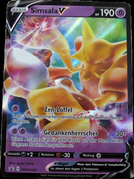 Pokemon Simsala V Promo Oversize deutsch