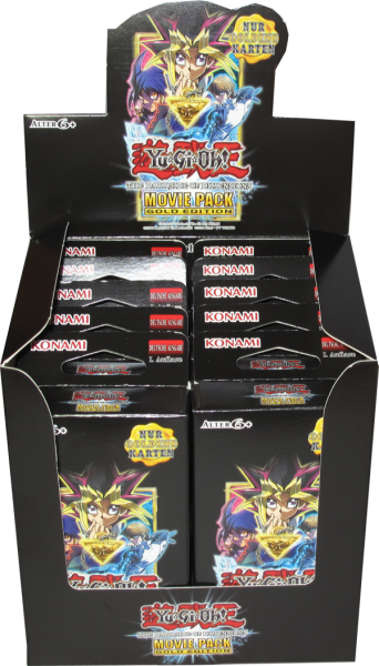 Yu-Gi-Oh! The Dark Side of Dimensions Movie Pack Gold Edition Display