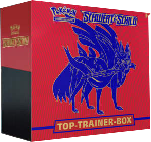 Pokemon Schwert & Schild Top-Trainer-Box (Rot)