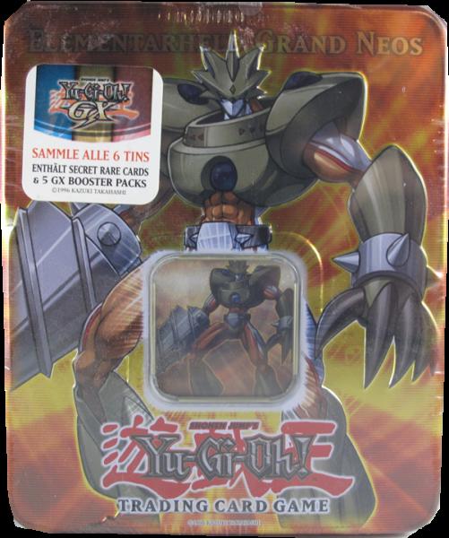 Yu-Gi-Oh! Elementarheld Grand Neos Tin Box deutsch