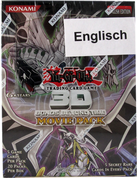 Yu-Gi-Oh! 3D Bonds Beyond Time - Movie Pack Booster Display englisch