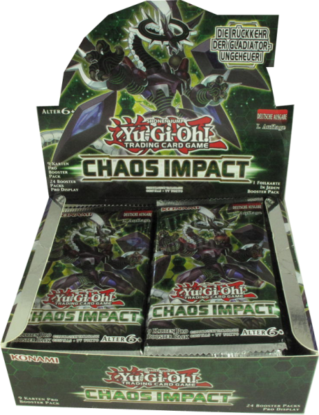 Yu-Gi-Oh! Chaos Impact Booster Display deutsch