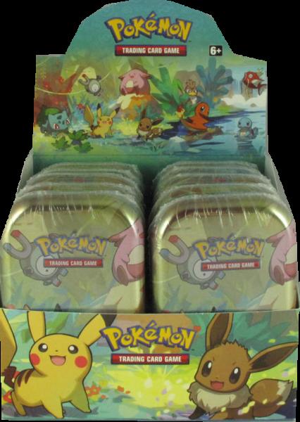 Pokemon Kanto-Freunde Mini-Tin Display deutsch