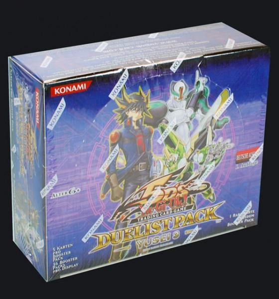 Yu-Gi-Oh! Duelist Pack Yusei 3 Booster Display deutsch