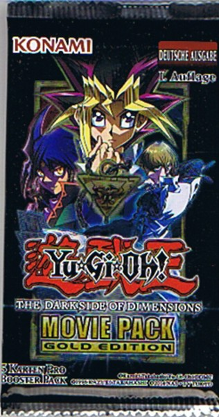 Yu-Gi-Oh! The Dark Side of Dimensions Movie Pack Gold Edition Booster deutsch