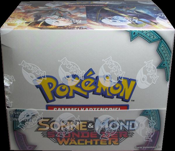 Pokemon Sonne & Mond Stunde der Wächter Themendeck Display