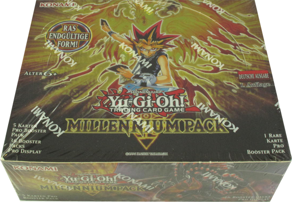 Yu-Gi-Oh! Millennium Pack Booster Display deutsch