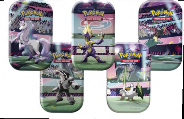 Pokemon Galar-Power Mini-Tin 5er Set