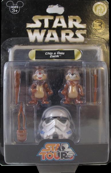 Action Figur Disney Star Tours Star Wars - Chip & Dale Ewok