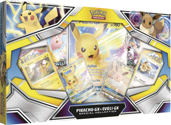 Pokemon Pikachu-GX & Evoli-GX Kollektion
