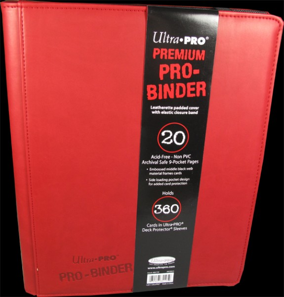 Ultra Pro - Premium Pro Binder 9-Pocket Portfolio - red