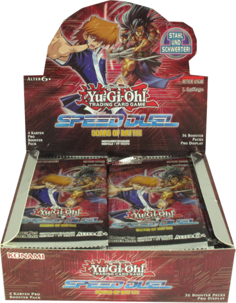 Yu-Gi-Oh! Speed Duel Scars of Battle Booster Display