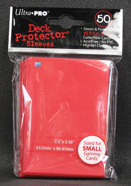 Ultra Pro - Small - Red - 60 Hüllen - Deck Protector Sleeves