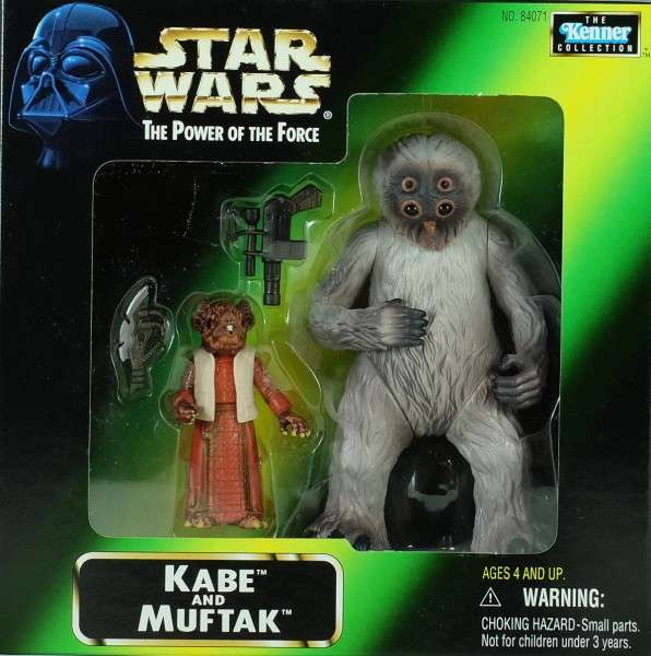 Star Wars The Power of the Force Kabe and Muftak limited Action Figur