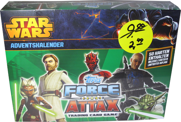 Star Wars Force Attax Serie 5 Adventskalender