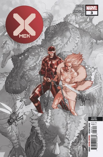 X-MEN #3 2ND PTG YU VAR DX